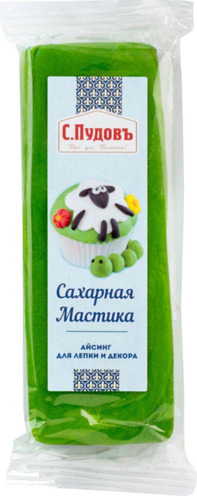 Сахарная мастика С.Пудовъ зеленая 100 г фото