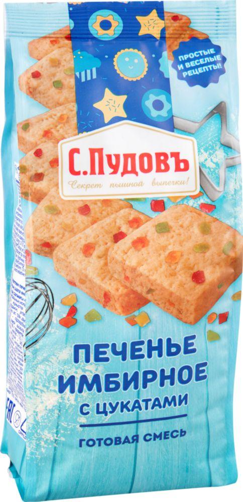 Готовая мучная смесь С.Пудовъ имбирное печенье с цукатами 400 г фото