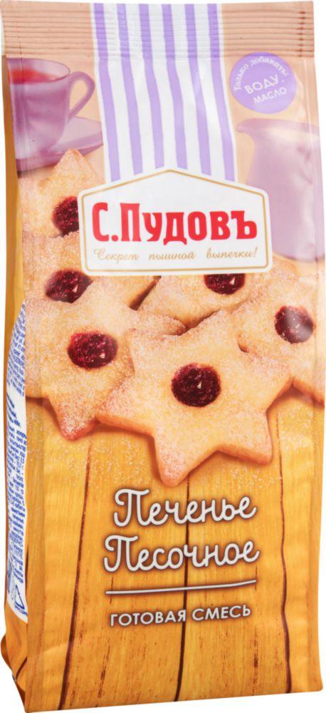 Готовая мучная смесь С.Пудовъ печенье песочное 400 г фото