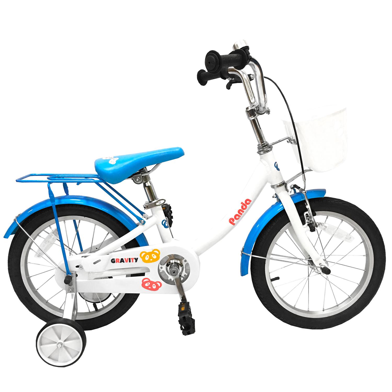 Детский велосипед Gravity Panda бело-голубой.
