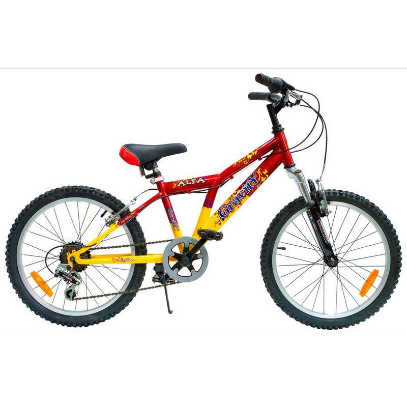 Подростковый велосипед Gravity Alfa 20 красно-желтый.