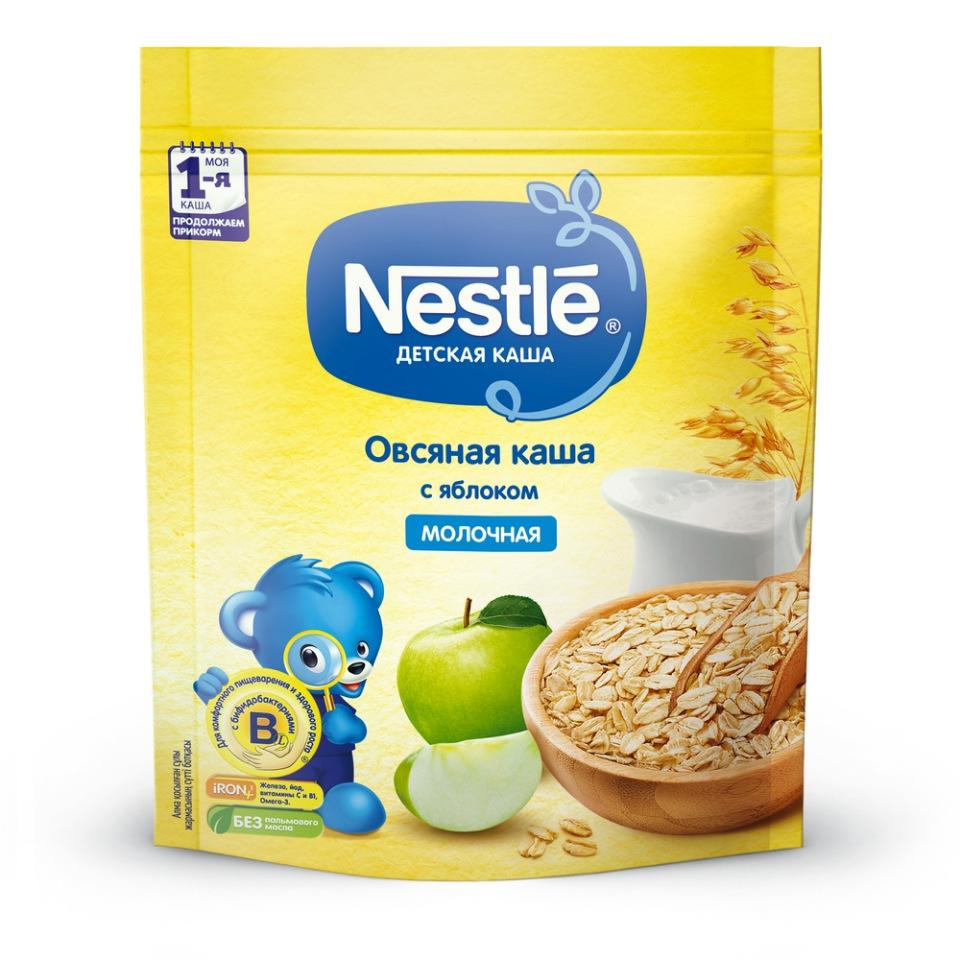 Каша молочная Nestle Овсяная с яблоком с 6 мес. 220 г
