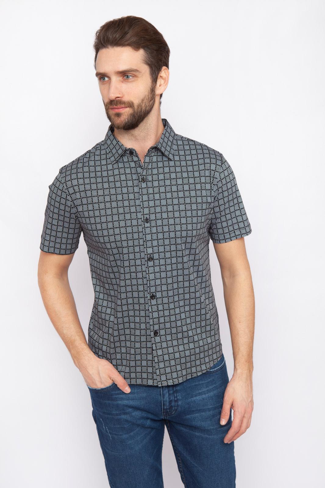 Рубашка мужская Kanzler 19S-PBDW02SS-T/32 серая S