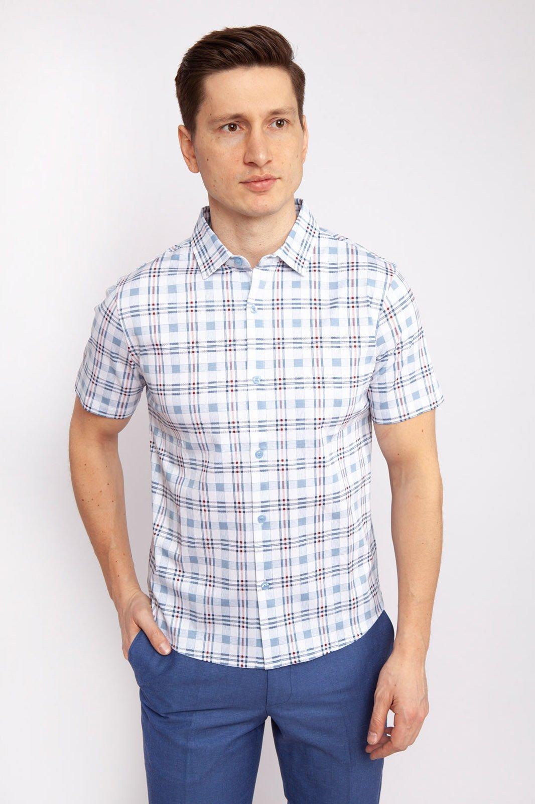 Рубашка мужская Kanzler 19S-PBDW05SS-T/96 голубая S