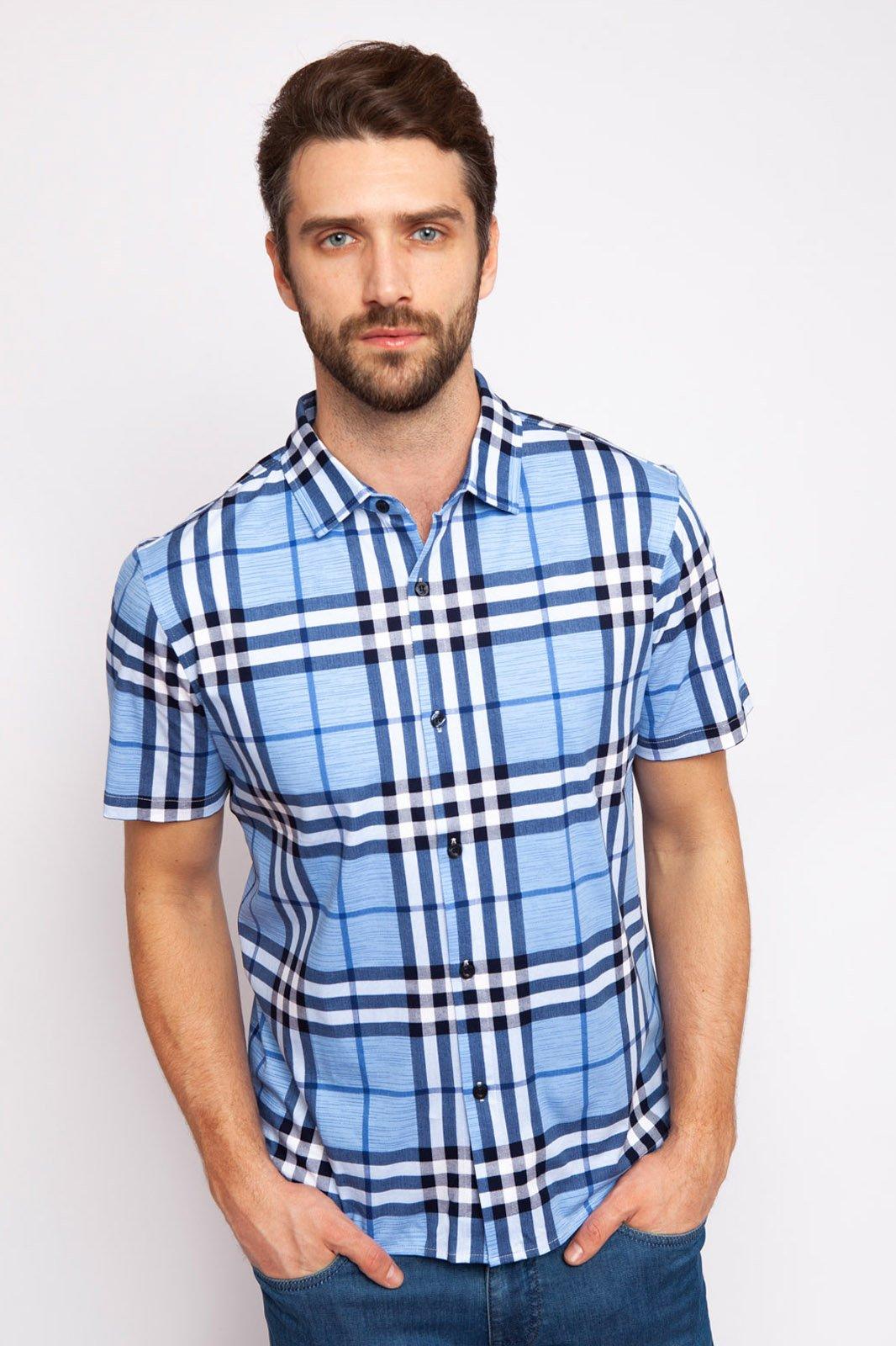 Рубашка мужская Kanzler 19S-PBDW06SS-T/90 голубая S