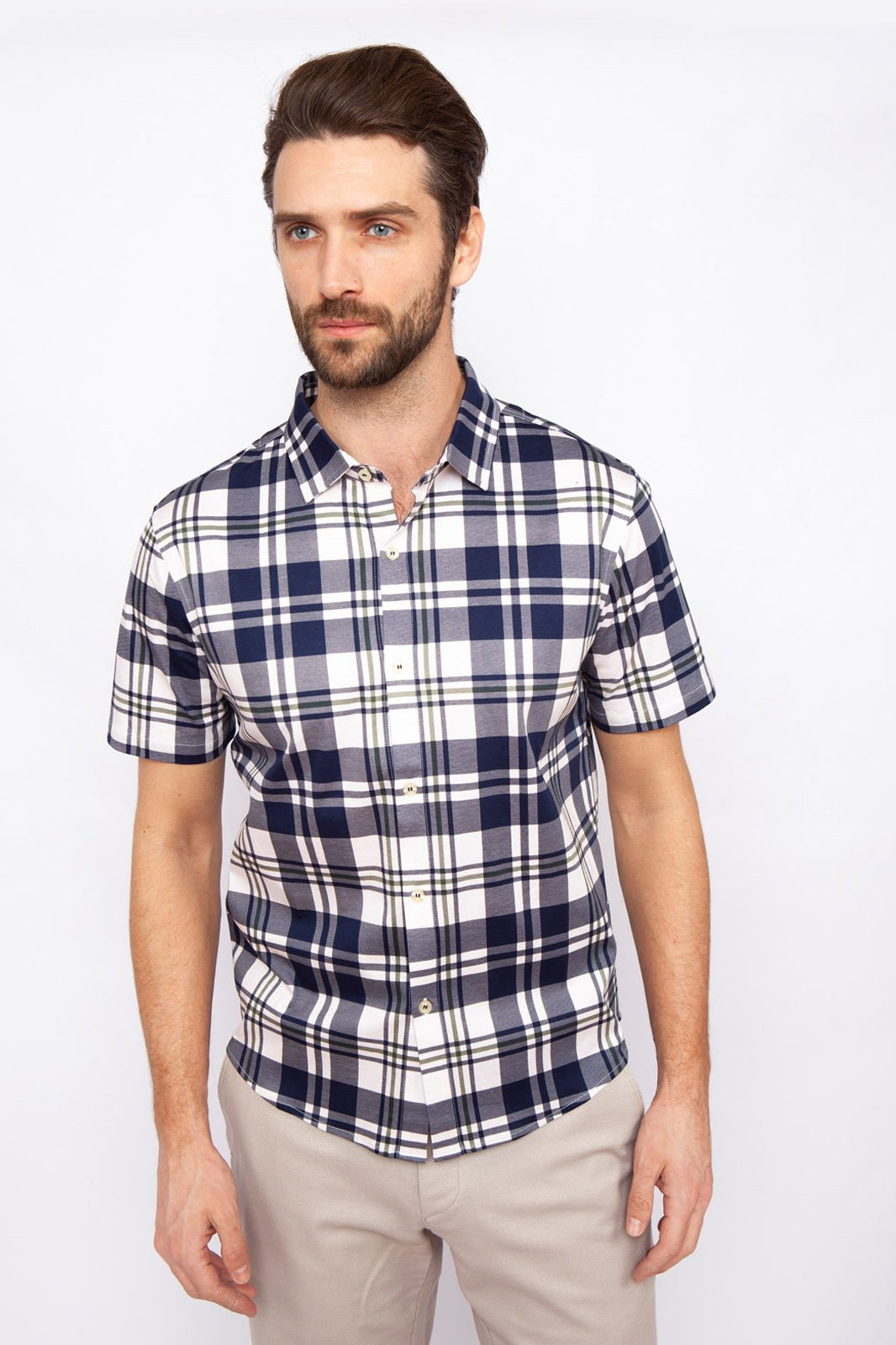 Рубашка мужская Kanzler 19S-PBDW07SS-T/99 синяя L