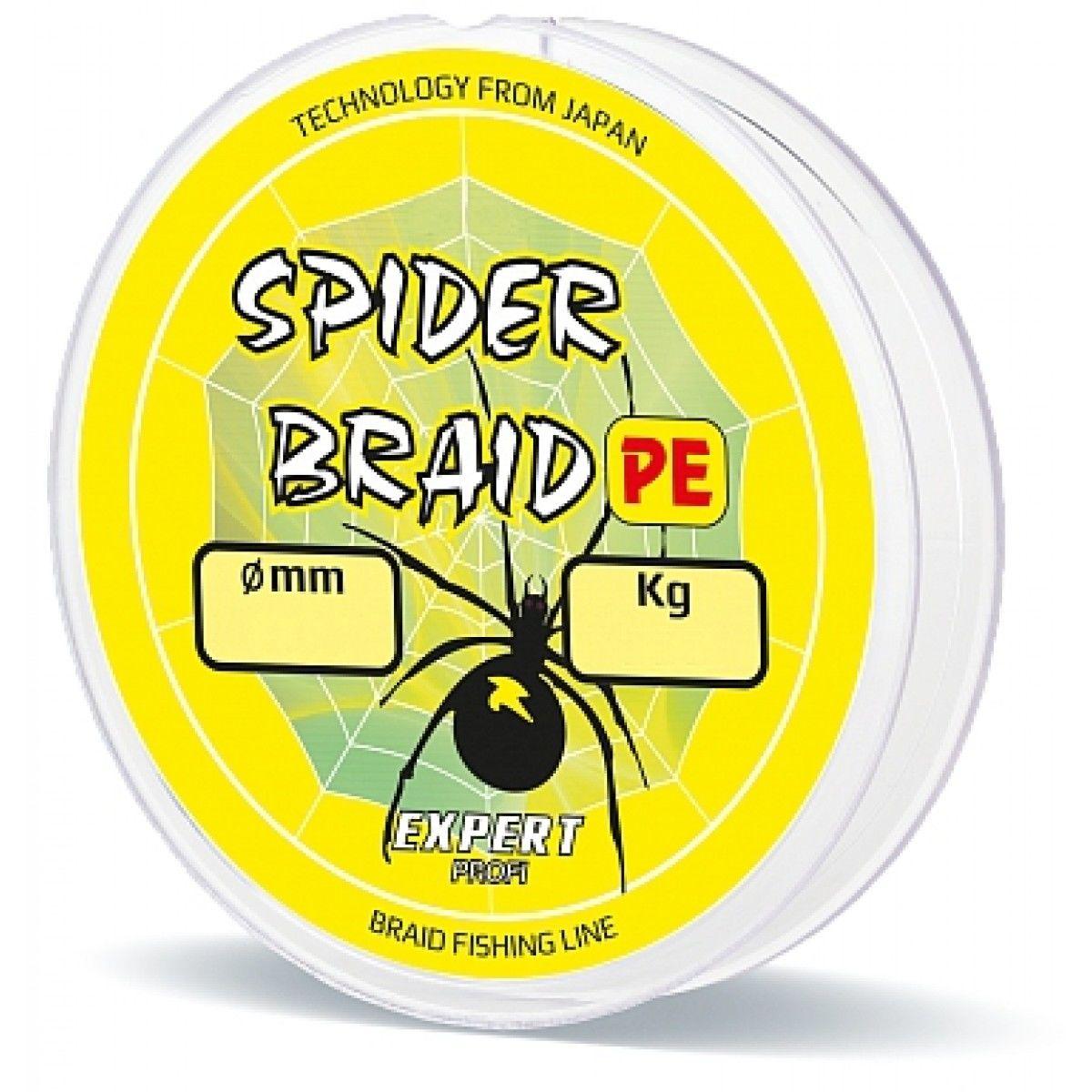Леска плетеная Expert Spider 130 м желтый