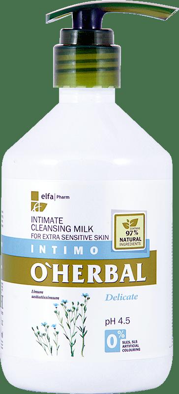Молочко для интимной гигиены O'Herbal DELICATE,
