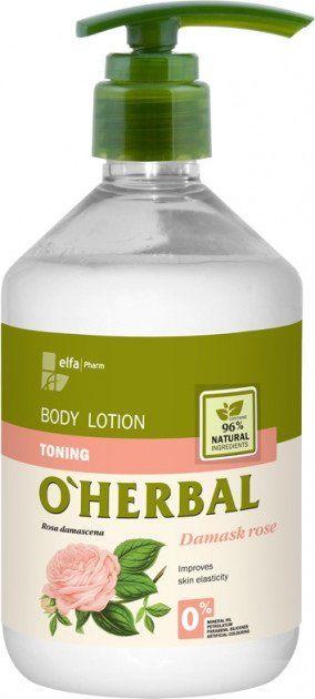 Купить Тонизирующий лосьон для тела с экстрактом дамасской розы O'Herbal, 500 мл, O'Herbal