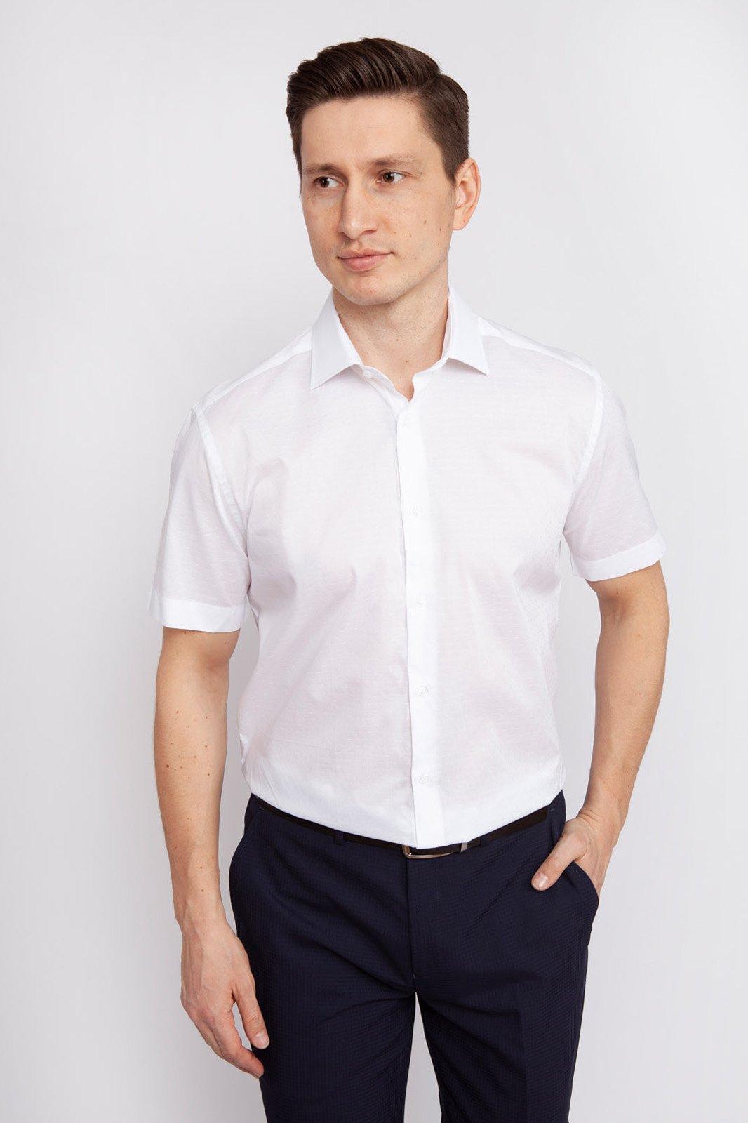 Рубашка мужская Kanzler 19S-SBL27RSS/01 белая 44