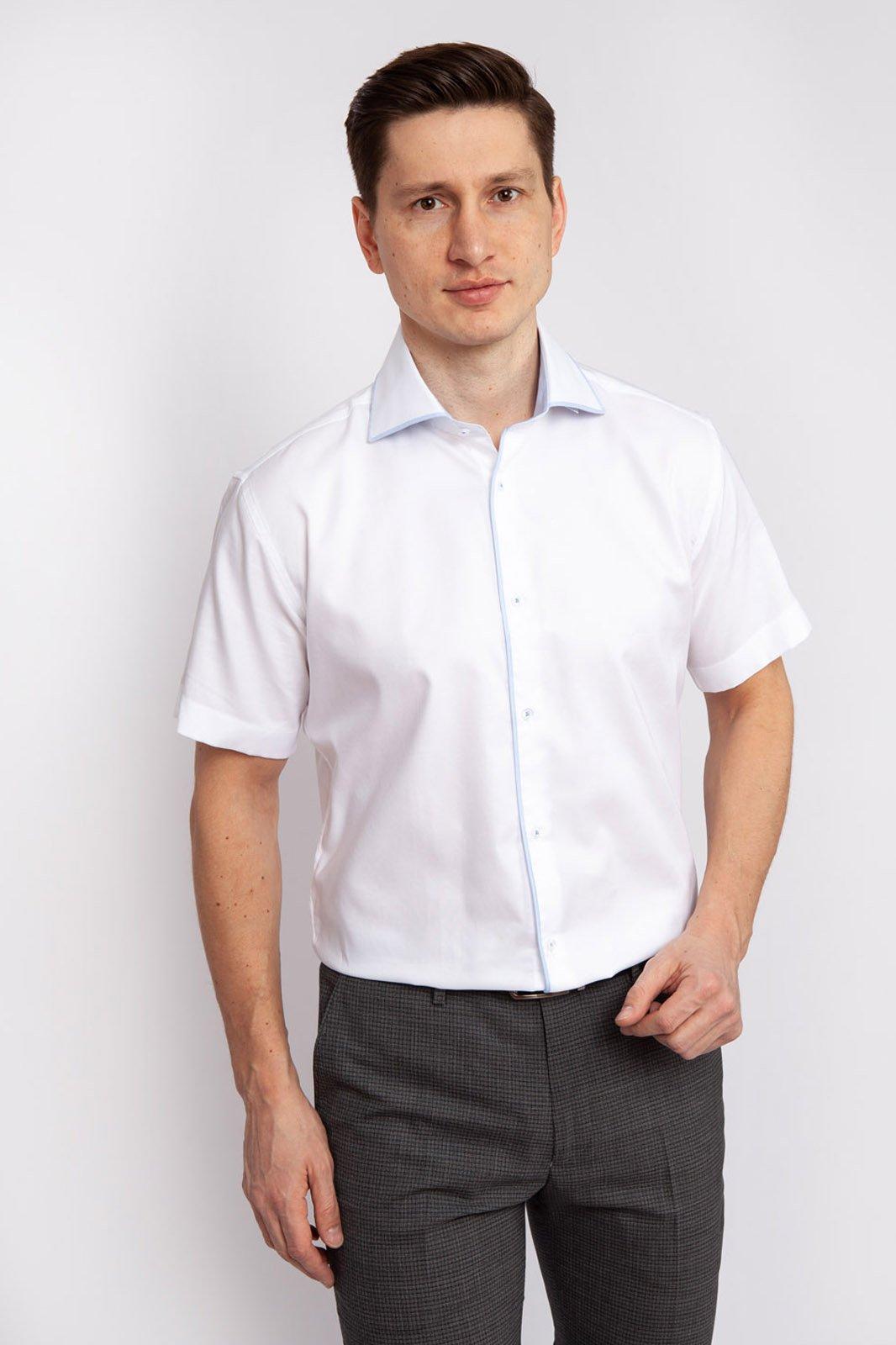 Рубашка мужская Kanzler 19S-SBL28SSS/01 белая 40