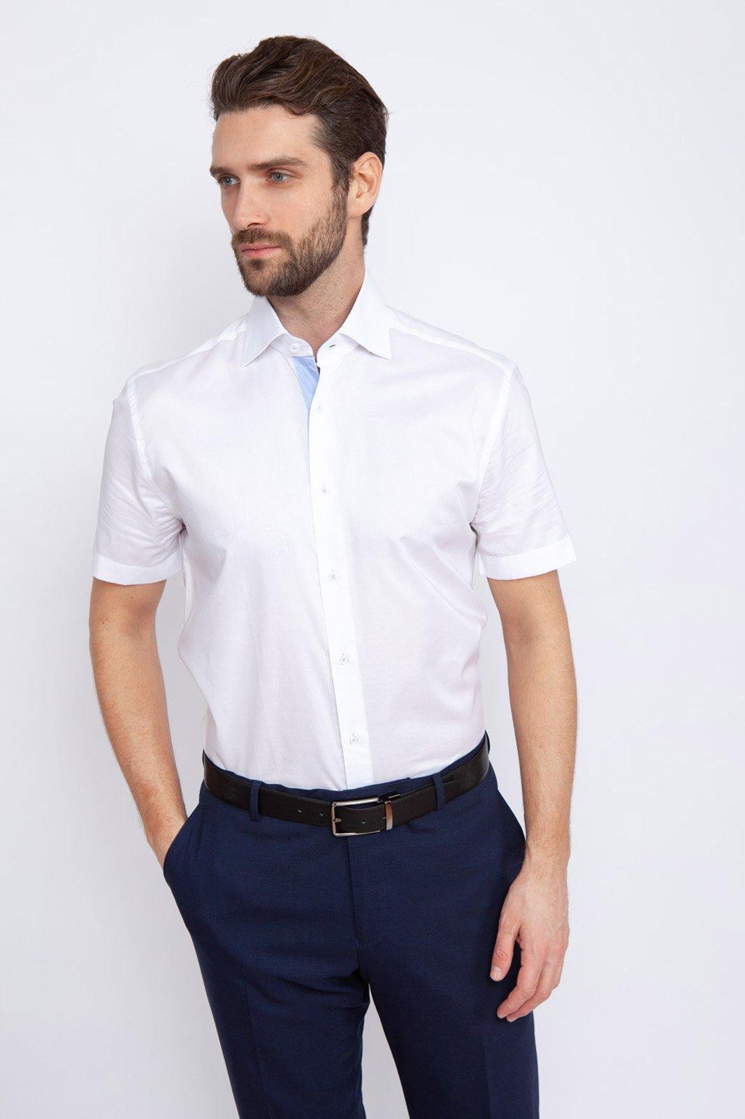 Рубашка мужская Kanzler 19S-SBL30RSS/01-1 белая 41