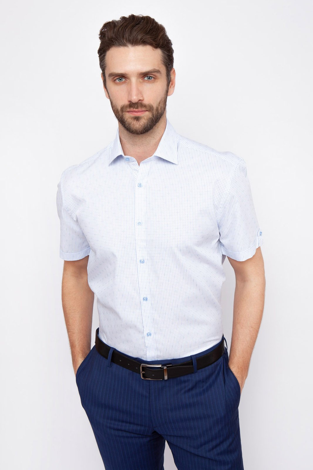 Рубашка мужская Kanzler 19S-SBL31RSS/02-3 голубая 39