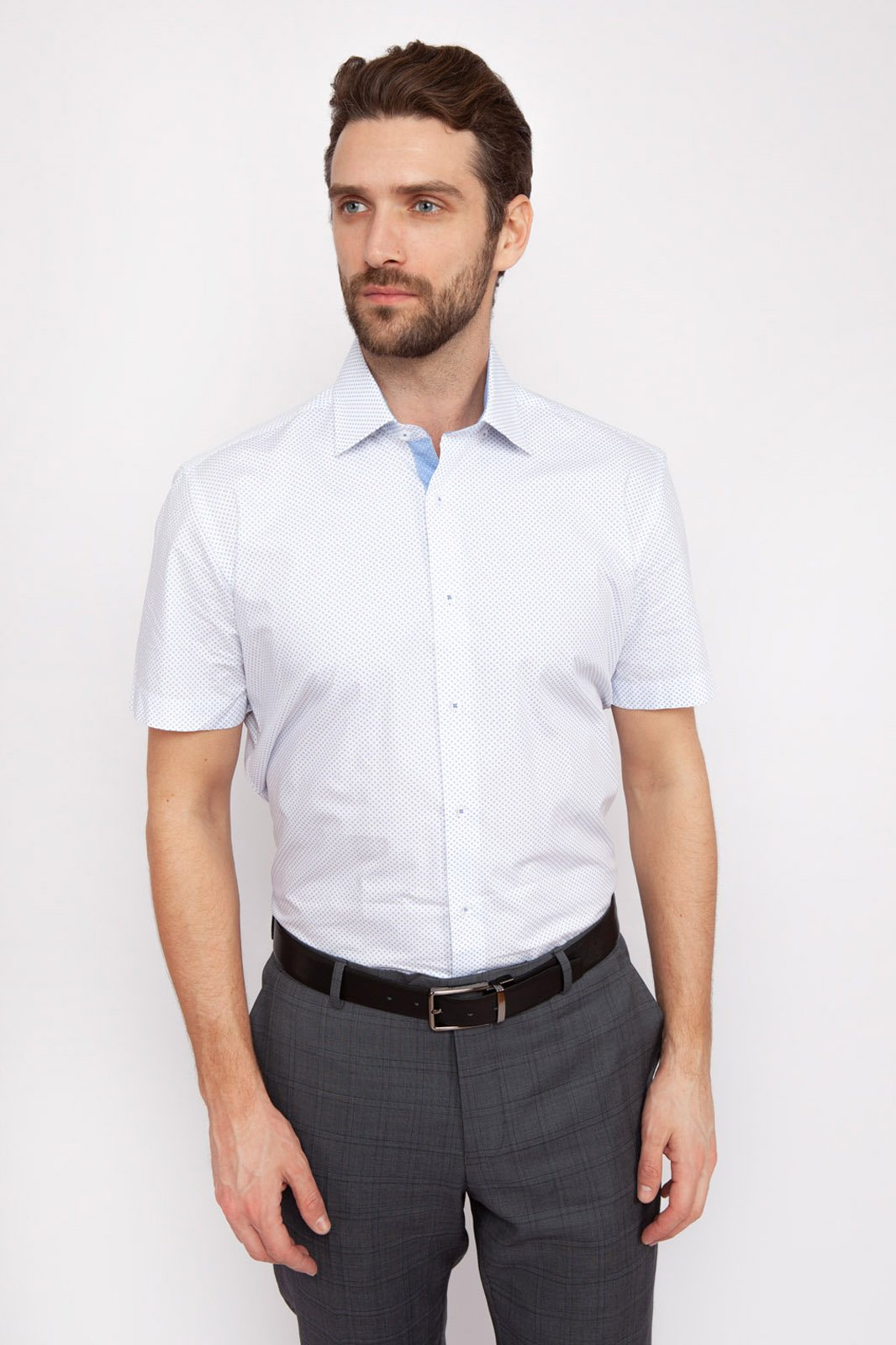 Рубашка мужская Kanzler 19S-SBL32SSS/01-4 белая 39