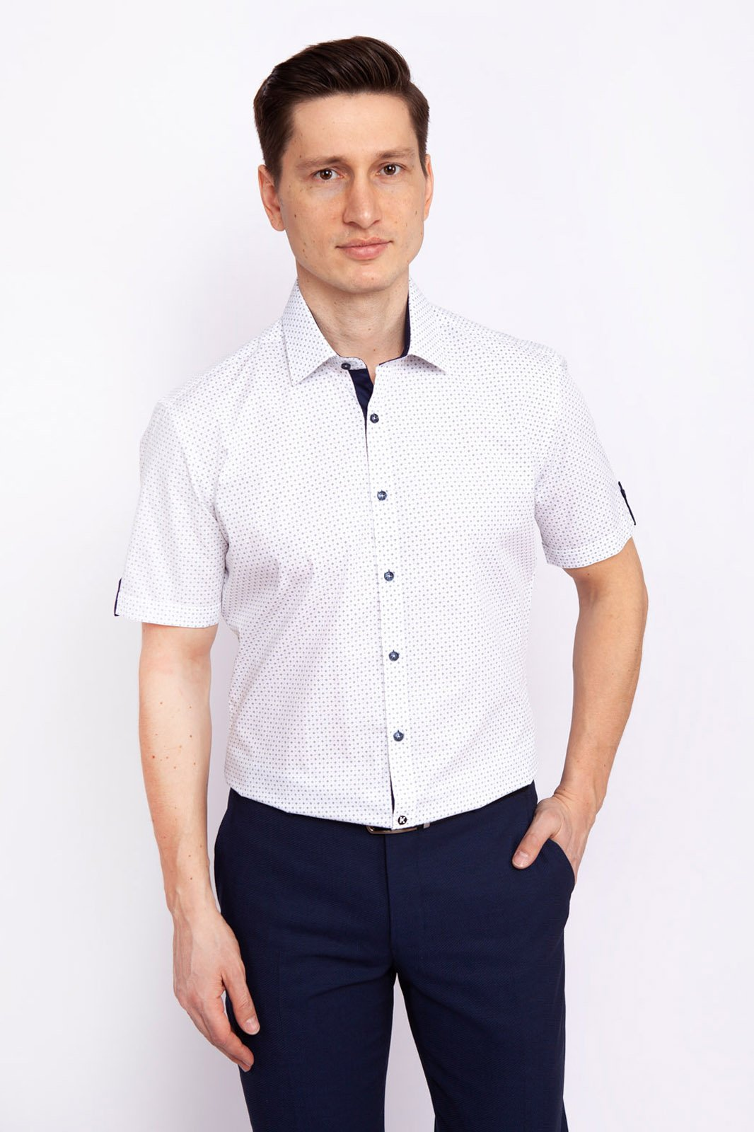 Рубашка мужская Kanzler 19S-SBL34S2SS/01-4 белая 39