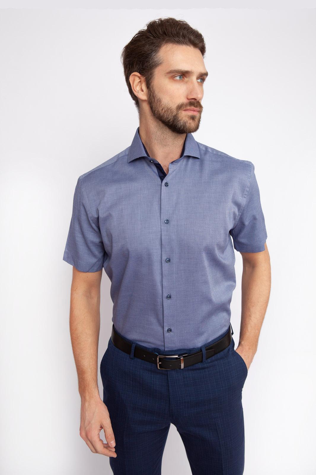Рубашка мужская Kanzler 19S-SBL36RSS/03-1 синяя 43