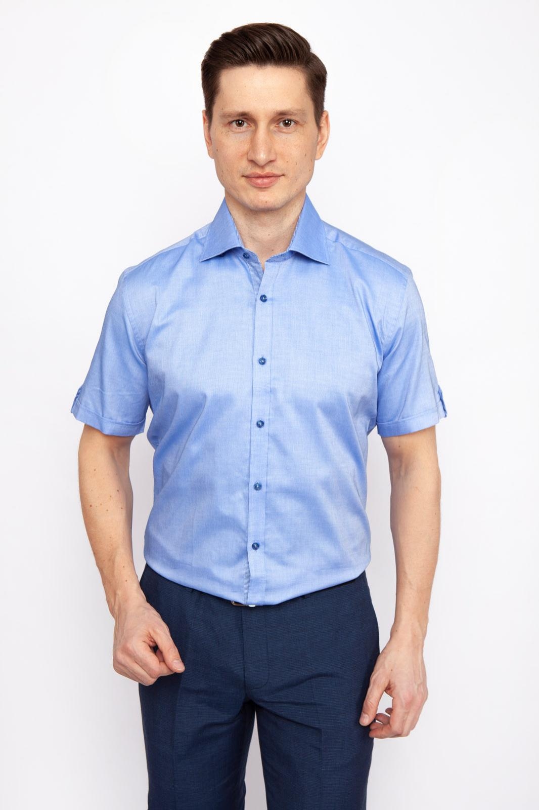 Рубашка мужская Kanzler 19S-SBL40SSS/02 голубая 38