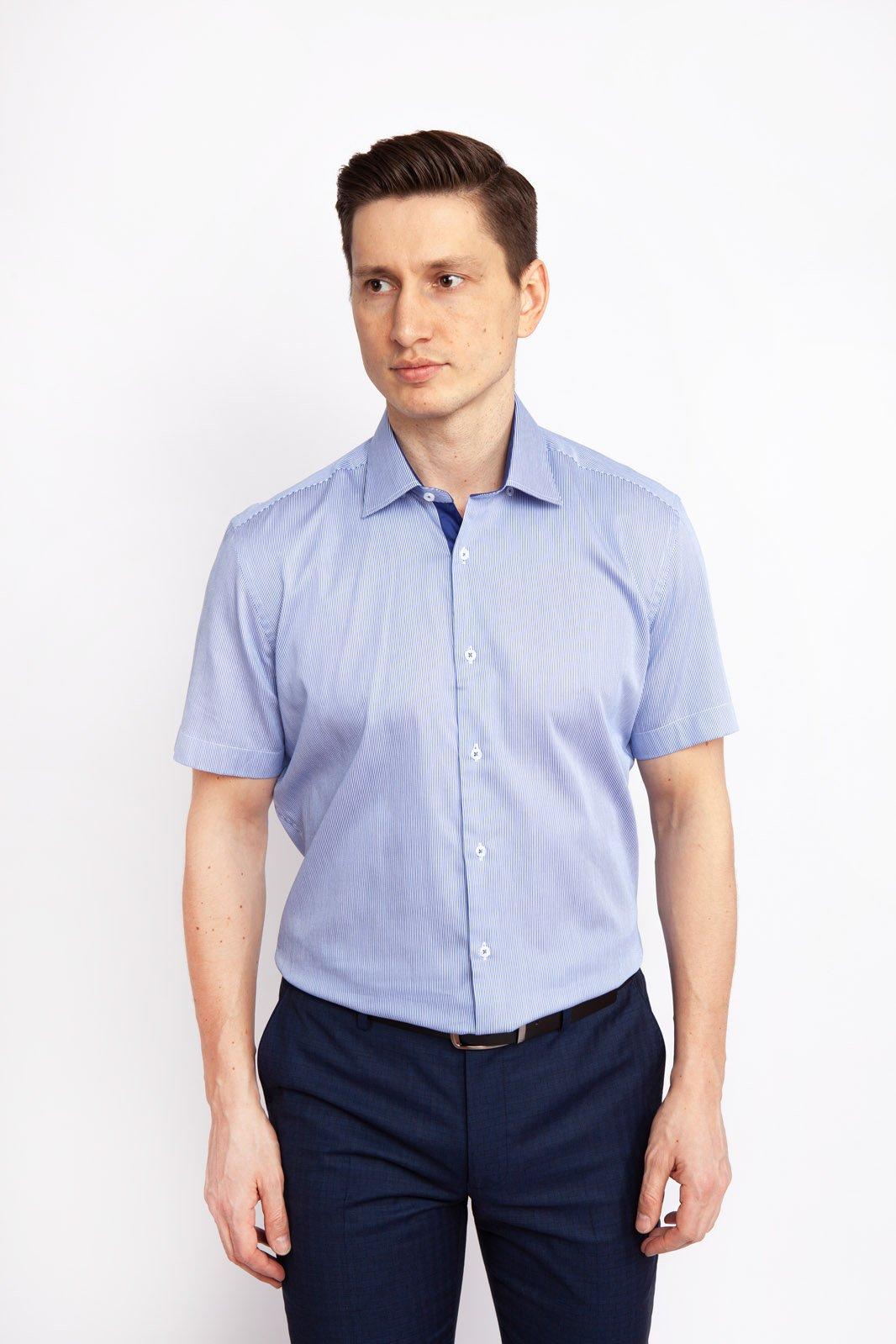 Рубашка мужская Kanzler 19S-SBL42SSS/03-2 синяя 38