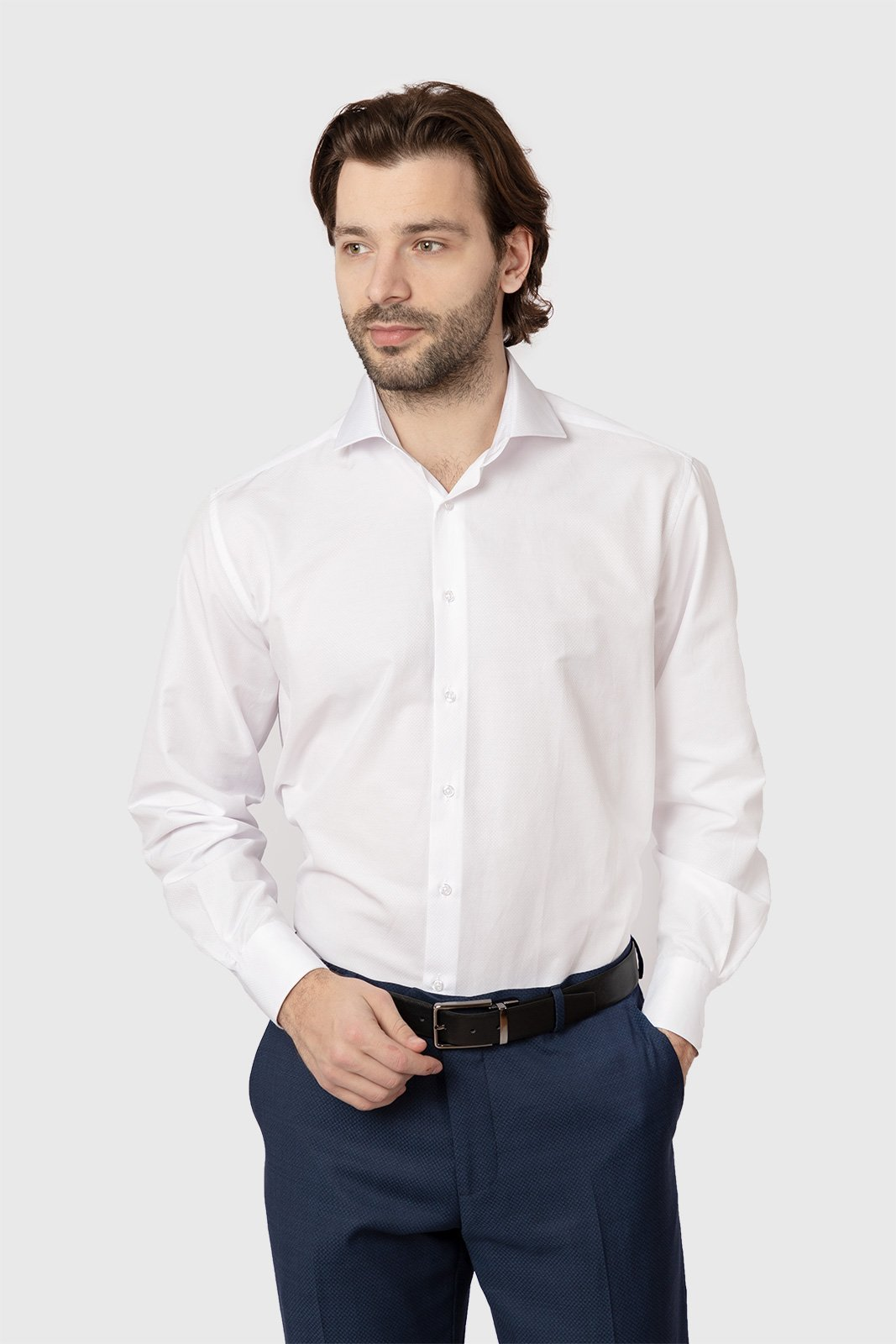Рубашка мужская Kanzler 19S-SC03RLSN/01-1 белая 44