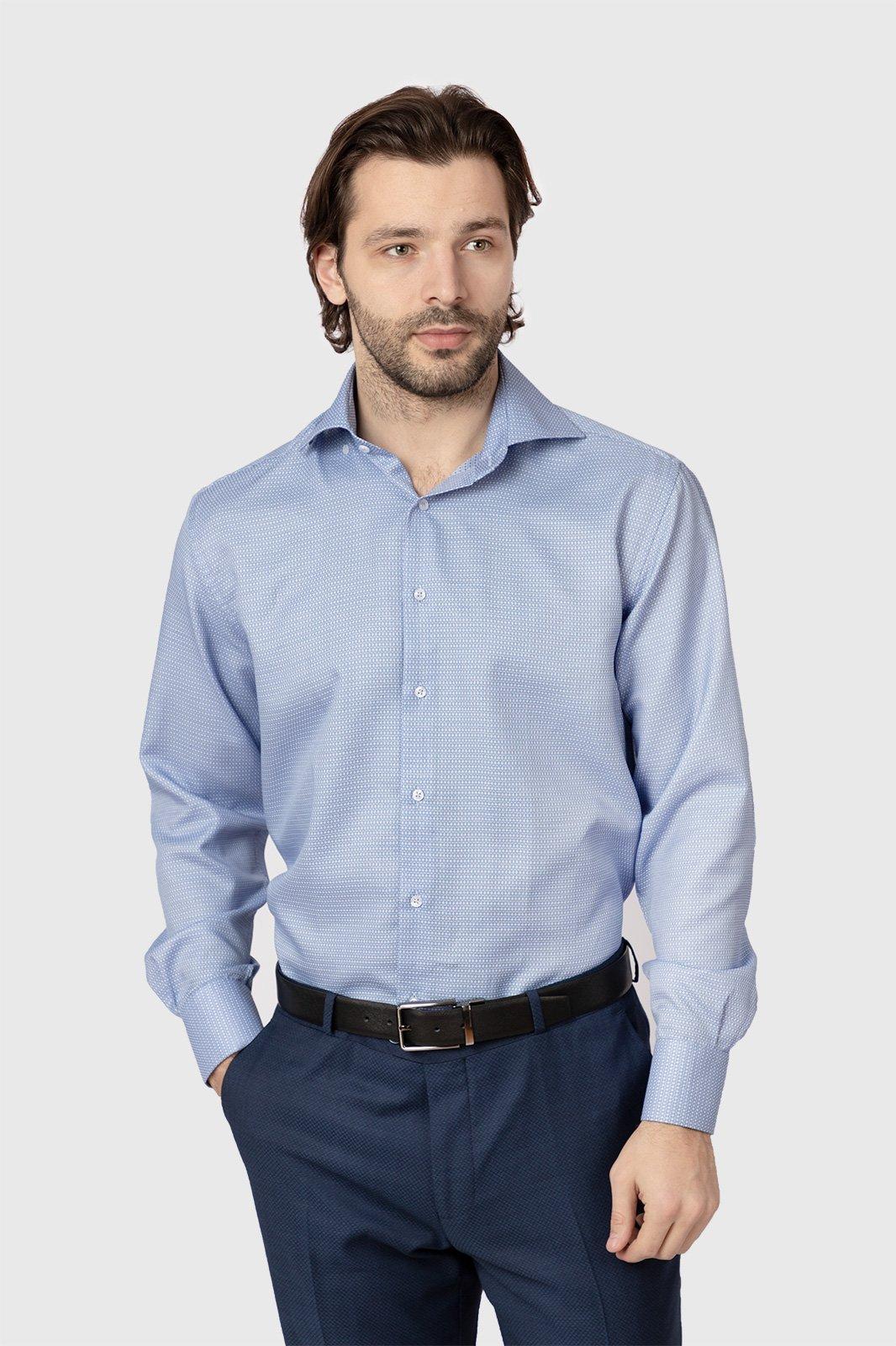 Рубашка мужская Kanzler 19S-SC09RLSN/02-1 голубая 44