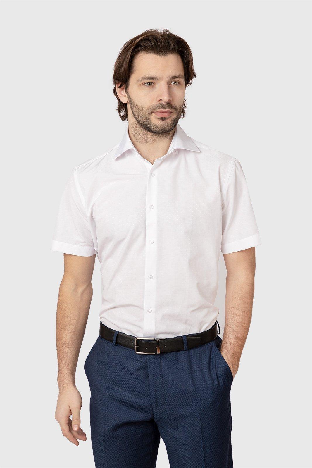 Рубашка мужская Kanzler 19S-SC12SSS/01-1 белая 44