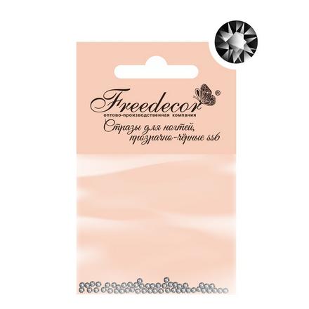 Стразы для ногтей Freedecor черные прозрачные