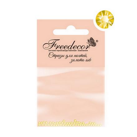 Стразы для ногтей Freedecor Золото 1,8 мм