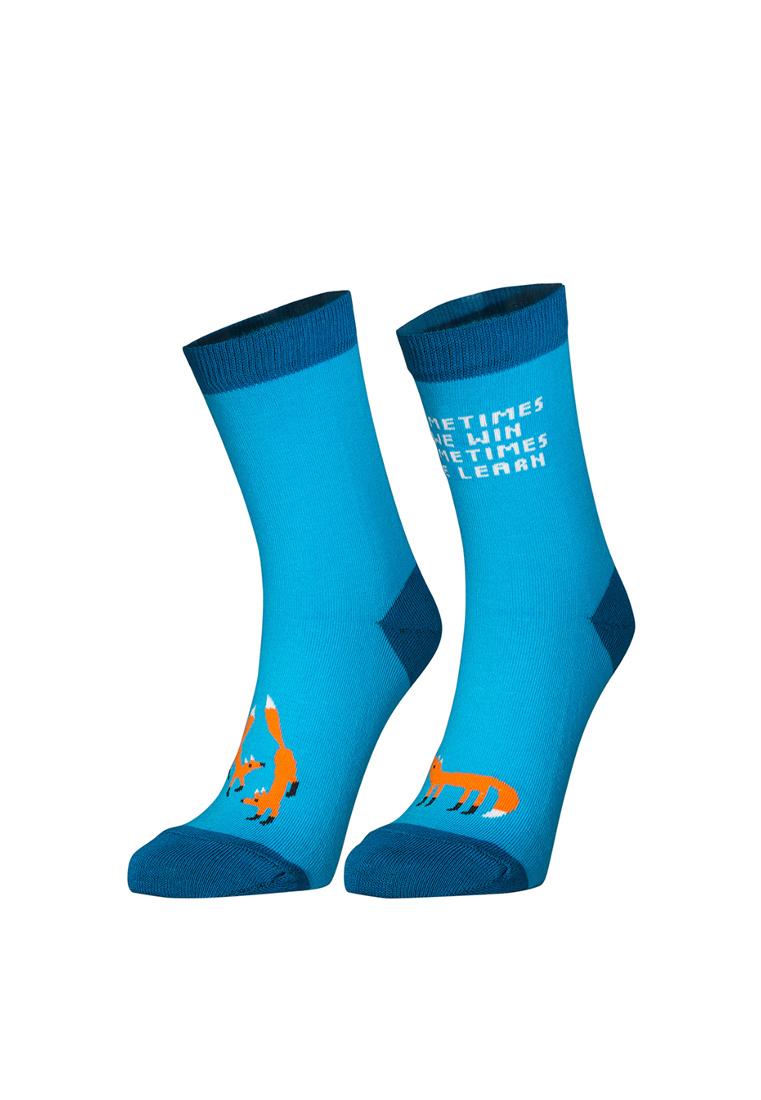 Носки женские big bang socks Лиса голубые 35-39