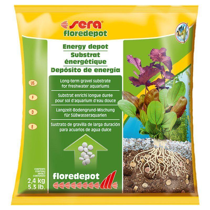 Грунт для аквариума Sera Floredepot 2,4кг пакет