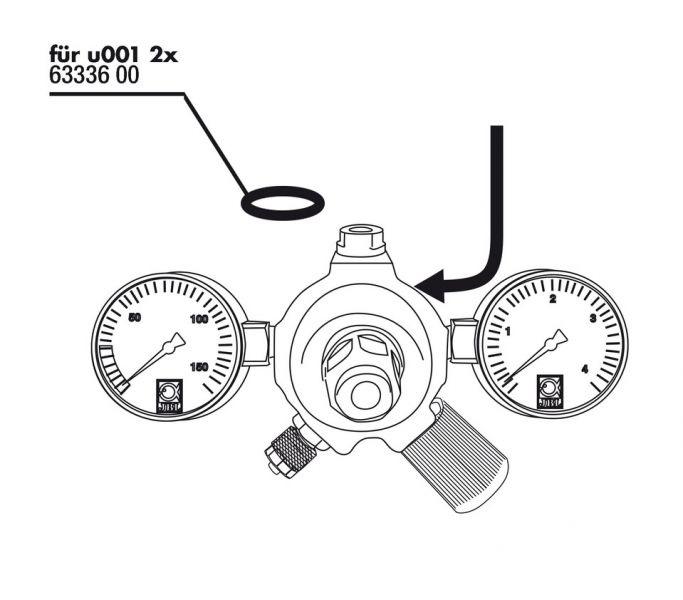Прокладка JBL для редуктора CO2 JBL ProFlora