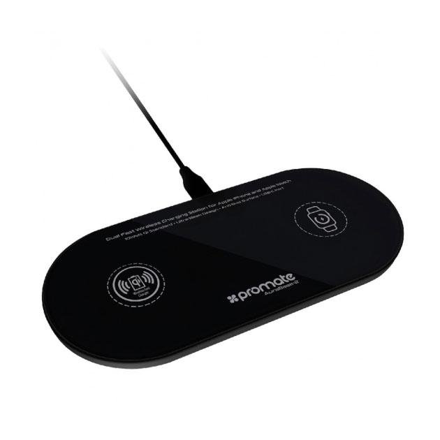 Беспроводное зарядное устройство Promate AuraBase-2 Black по цене 2 790