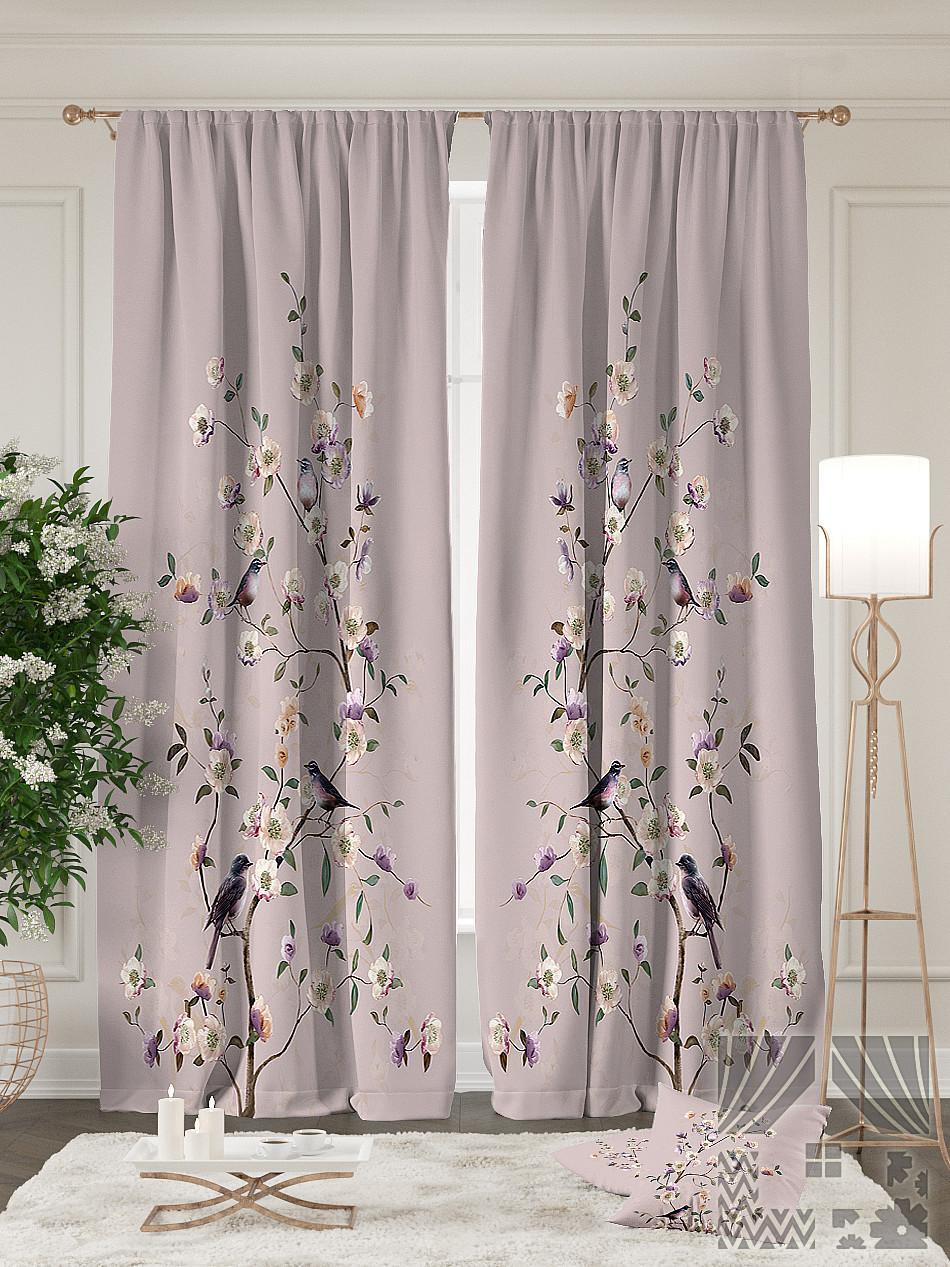 Комплект штор ТОМДОМ Ровена (пыльная роза), Ровена (пыльная роза) – купить по цене 4,920.00 руб. в goods.ru | imall.com