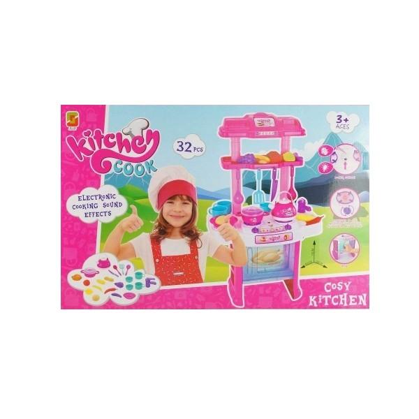 Купить Игровой набор Shantou Кухня с аксессуарами со звук. и свет. эффектами, Shantou Gepai, Детская кухня
