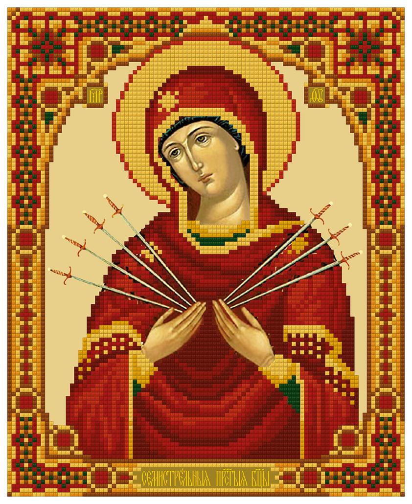 Алмазная живопись ФРЕЯ Икона Божией Матери Семистрельная ALVR-168 22x27 см