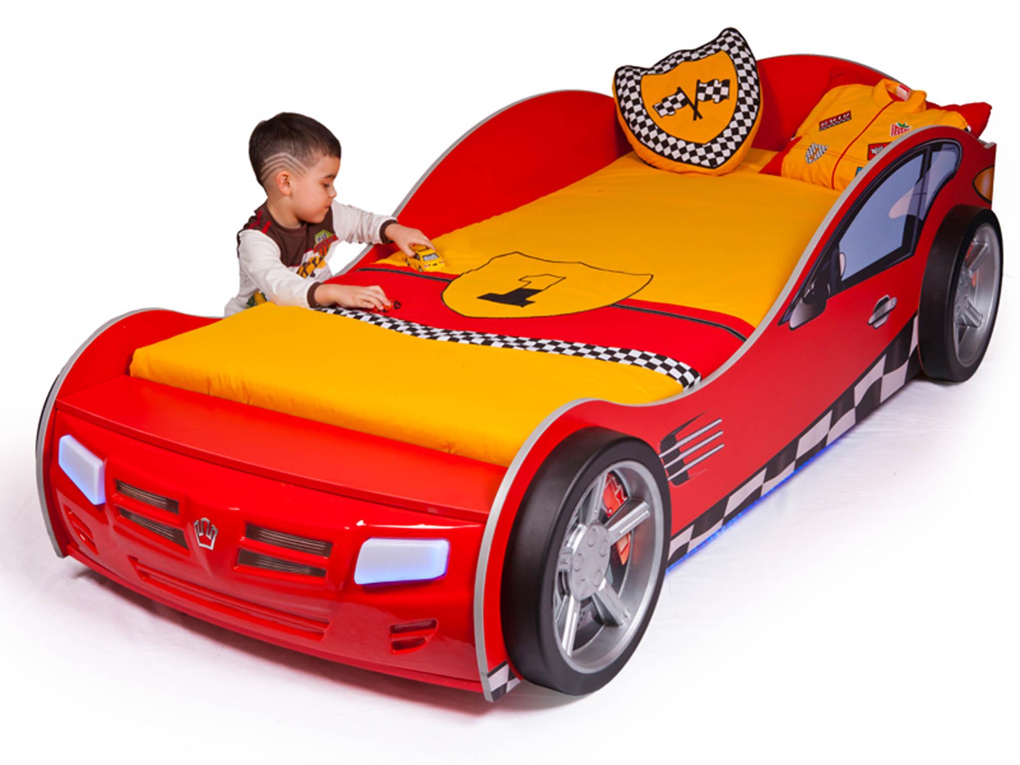 Кровать машина ABC-KING Formula (160*90) Красная