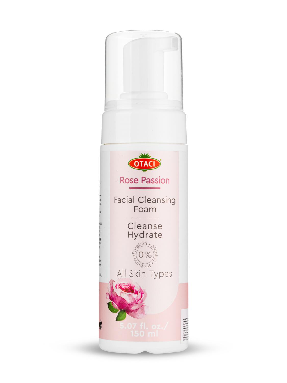 Купить Воздушная пенка для лица OTACI из экстракта дамасской розы, В5, Е, органическое масла, 150 мл