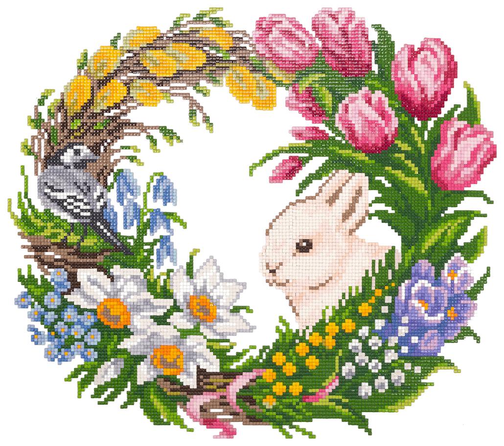 Алмазная живопись ФРЕЯ Цветущая весна ALVR-17 051 30x44 см