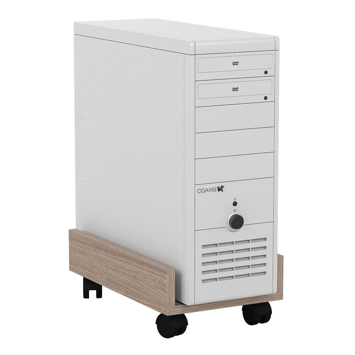 Подставка под системный блок Мебельный Двор 4-02 ясень шимо светлый 27х45х15 фото