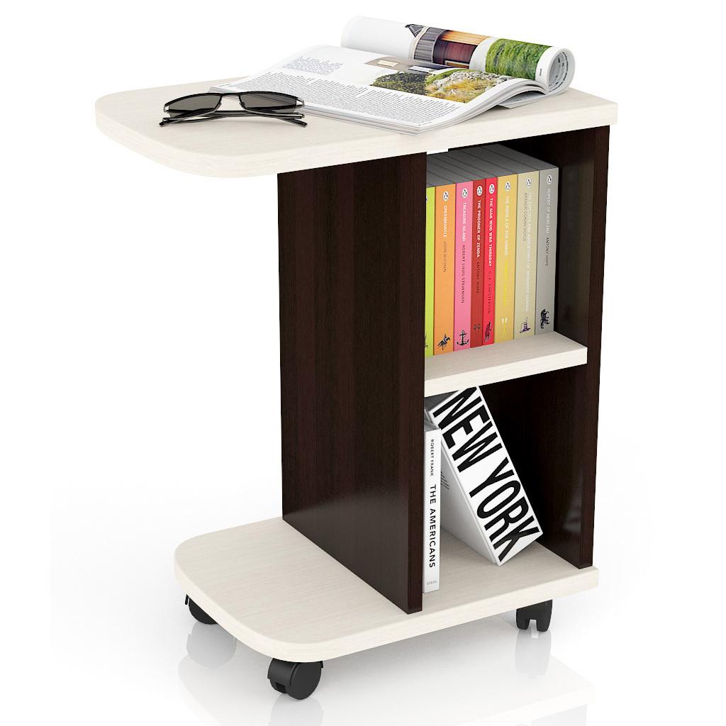 Журнальный столик Мебельный Двор МД-СЖ-3 47х30х60 см, венге/дуб фото