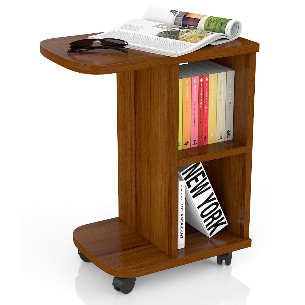Журнальный столик Мебельный Двор МД-СЖ-3 47х30х60 см, орех фото