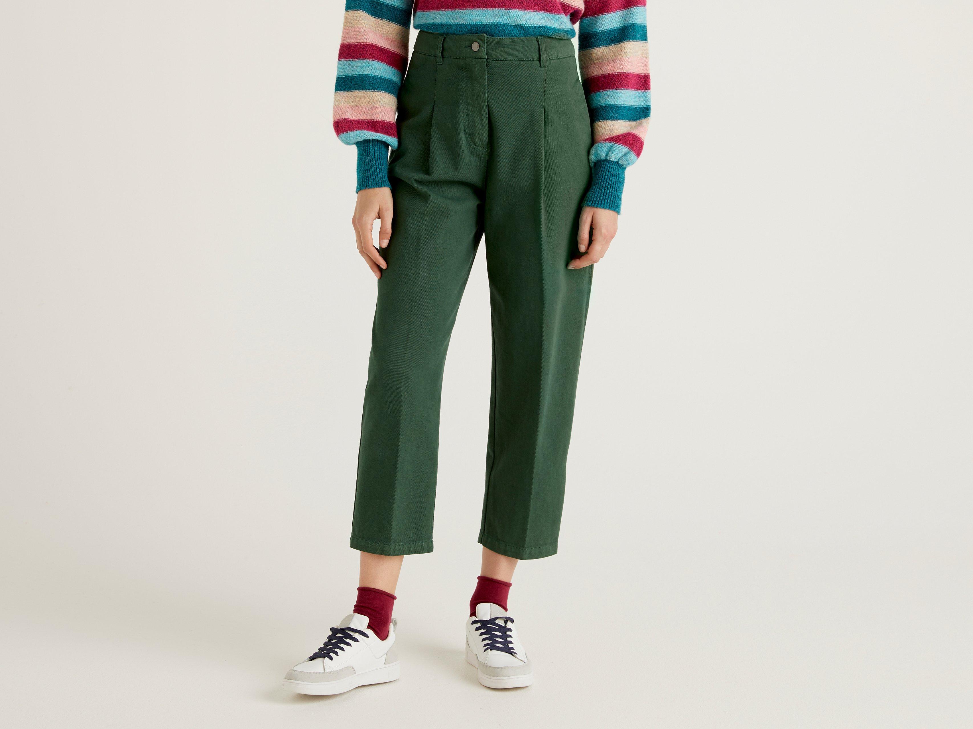 Джинсы женские United Colors of Benetton 21A_4DUK55AB4 зеленые 44