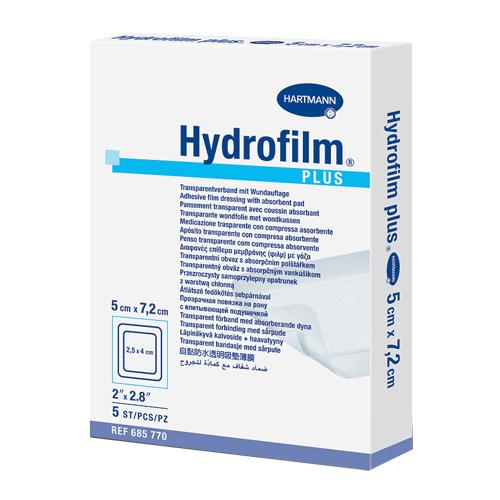 Пленочные повязки с впитывающей подушечкой Hydrofilm plus