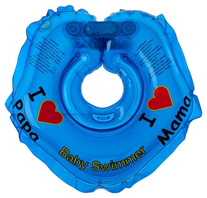 Круг на шею для купания, полноцветный, цвет голубой Baby Swimmer