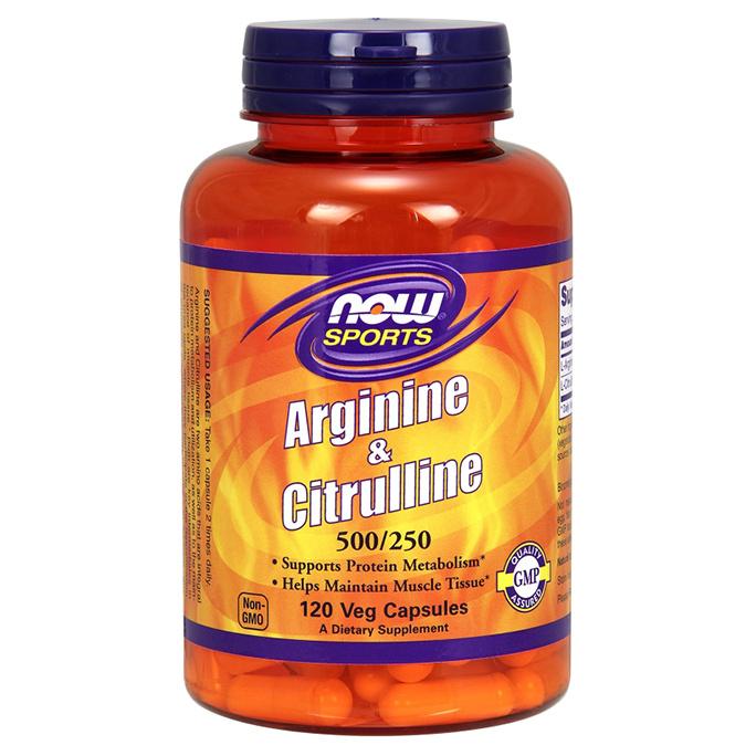 NOW Sports Arginine & Citrulline 120 капсул