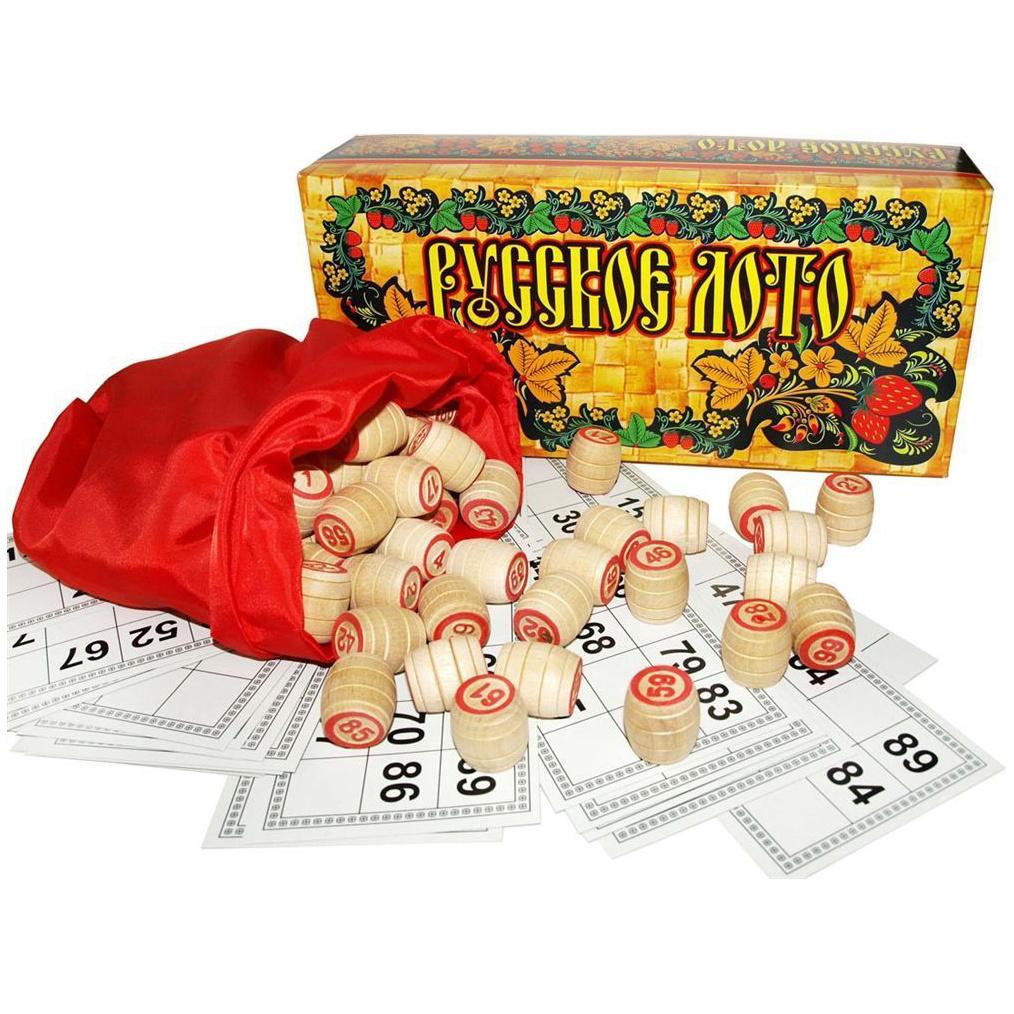 Настольная логическая игра Русское лото Ладья-С, Семейные настольные игры  - купить со скидкой