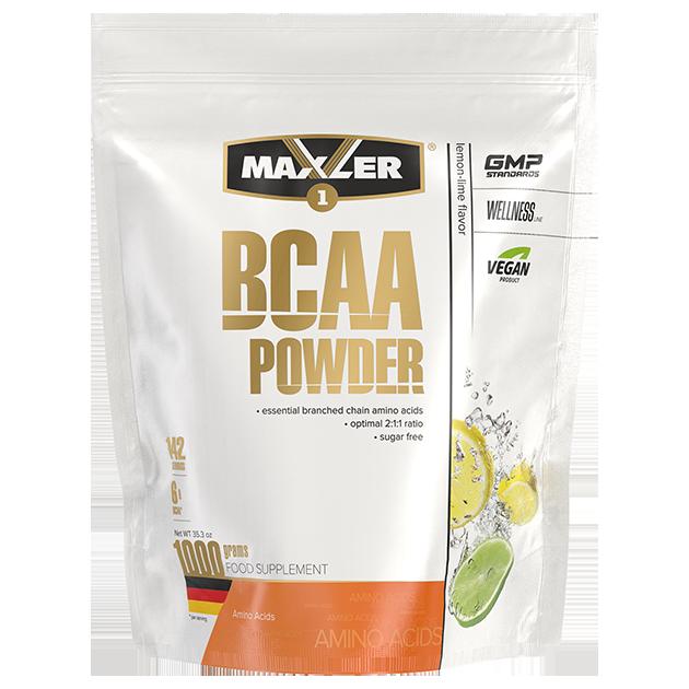 Аминокислоты БЦАА MAXLER BCAA Powder Sugar Free 1000 гр (Лимон-лайм)