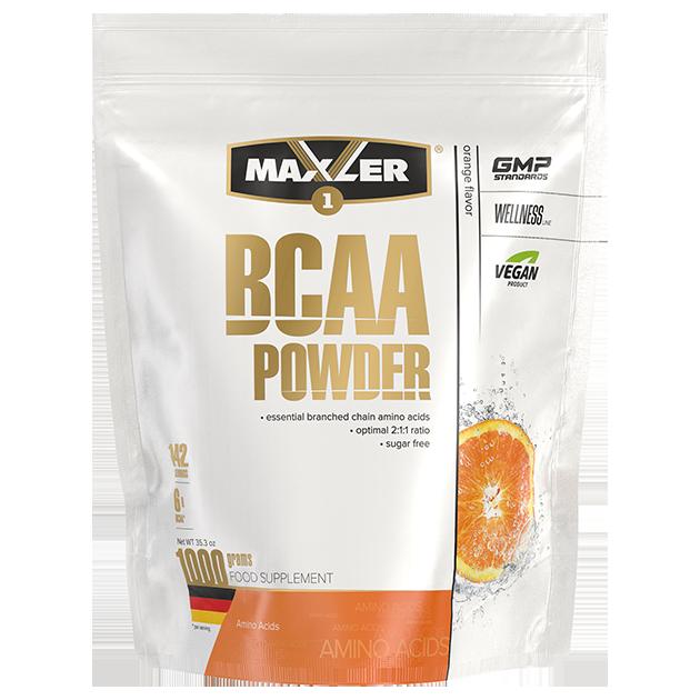 Аминокислоты БЦАА MAXLER BCAA Powder Sugar Free 1000 гр (Апельсин)