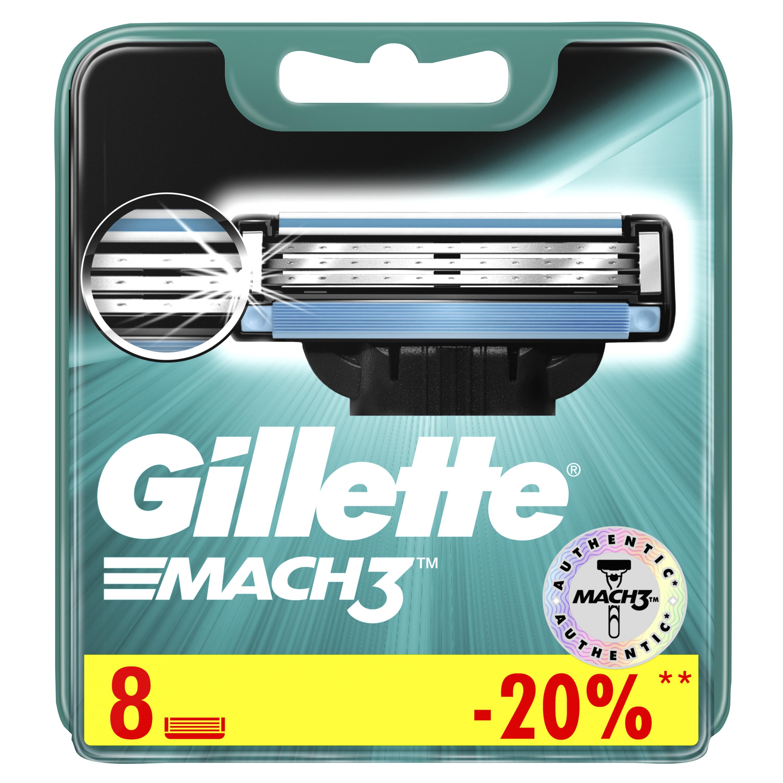 Сменные кассеты Gillette Mach3 8 шт
