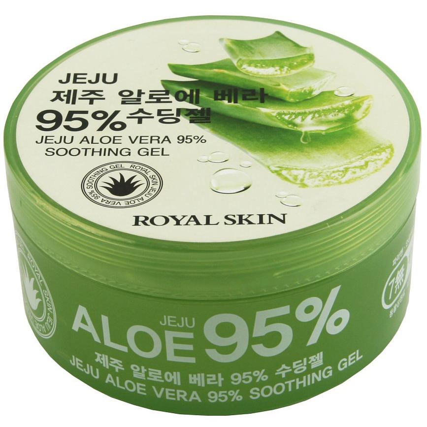 Купить Гель универсальный ROYAL SKIN с 95% содержанием Aloe, 300 мл, многофункциональный гель для лица и тела
