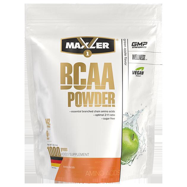 Аминокислоты БЦАА MAXLER BCAA Powder Sugar Free 1000 гр (Яблоко)